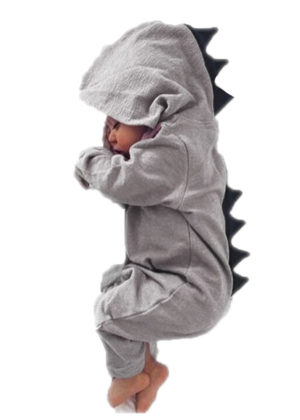 dino grijs baby